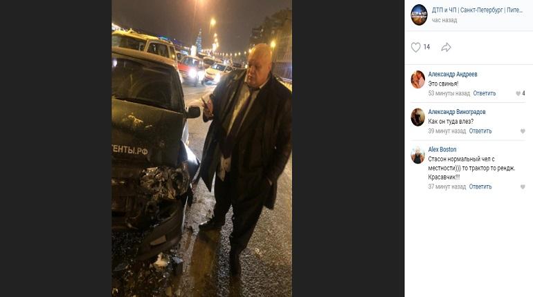 Стас Барецкий врезался в Range Rover