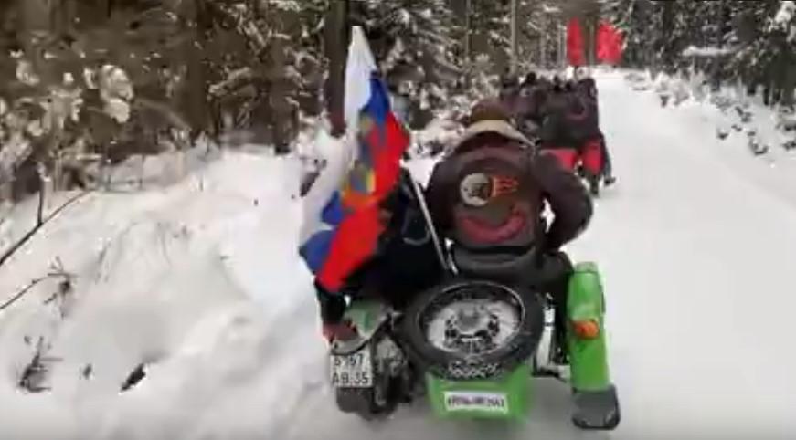 Петербургские байкеры провели зимний мотопробег по рубежу обороны Ленинграда
