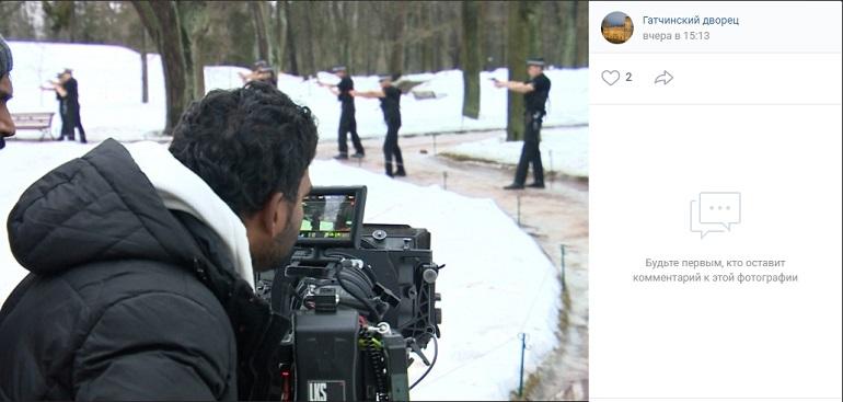 В Гатчинском дворце стартовали съемки индийского боевика со звездой Болливуда