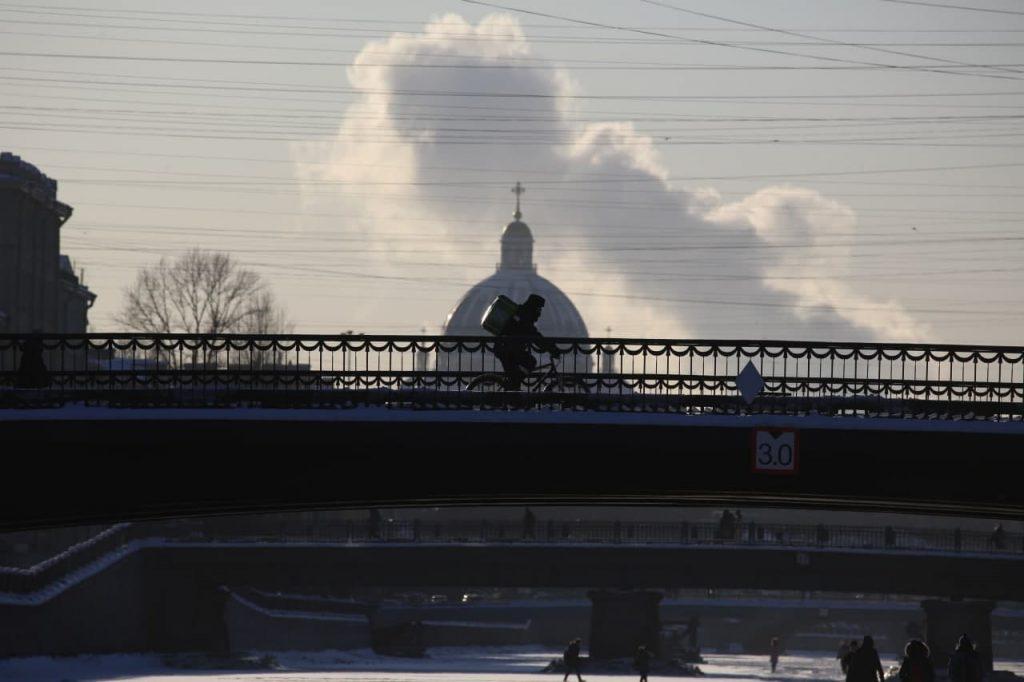 «Вот это весна»: утро в Петербурге 10 марта началось с  -19 градусов