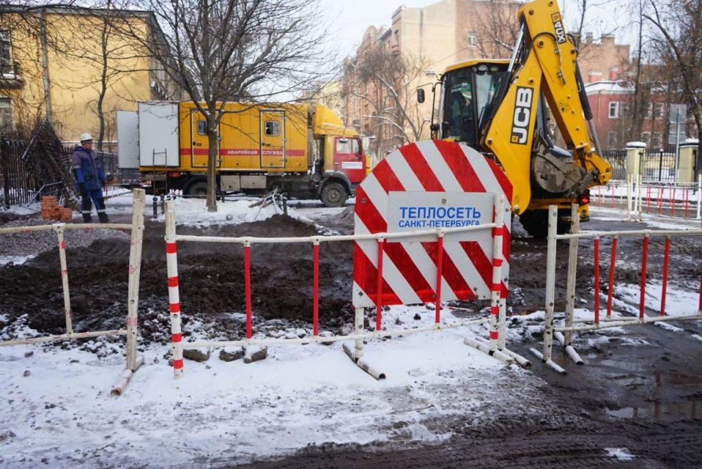 В Кировском районе Петербурга прорвало трубу с кипятком