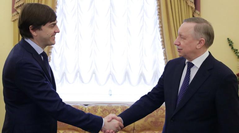 Беглов рассказал министру просвещения, как в Петербурге развивают дополнительное образование