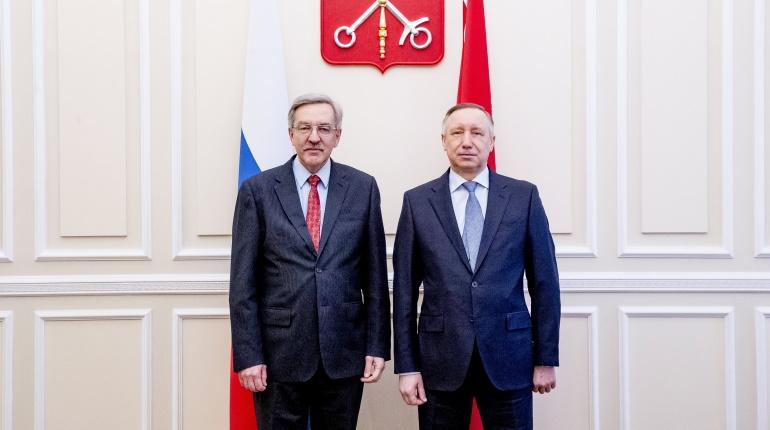 Беглов и Шишлов обсудили сотрудничество в период пандемии