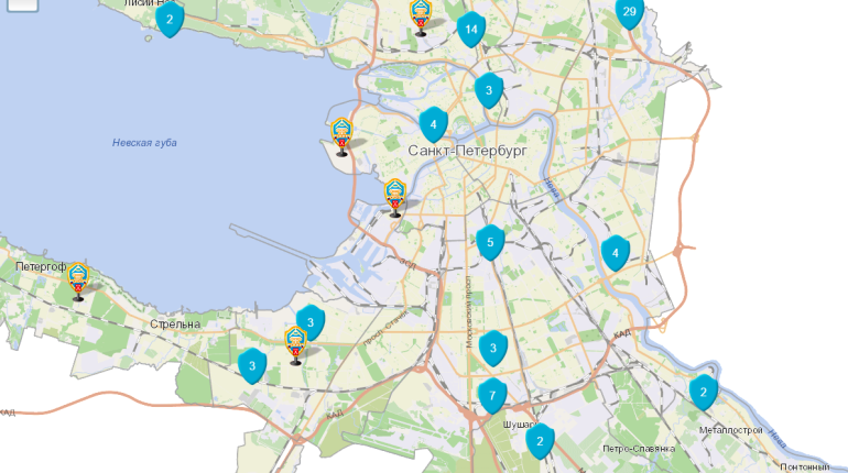 Появилась интерактивная карта строящихся объектов Петербурга
