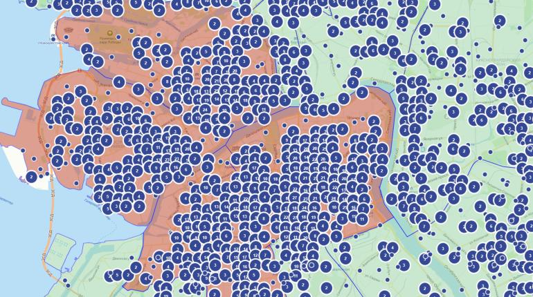 Заработала онлнай-карта легальных вывесок на фасадах Петербурга