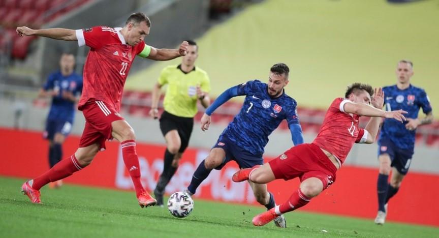 Сборная России проиграла Словакии в матче квалификации ЧМ-2022