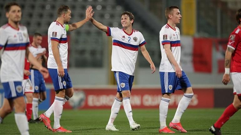 Россия сыграет со Словенией во втором туре отбора на ЧМ-2022 по футболу