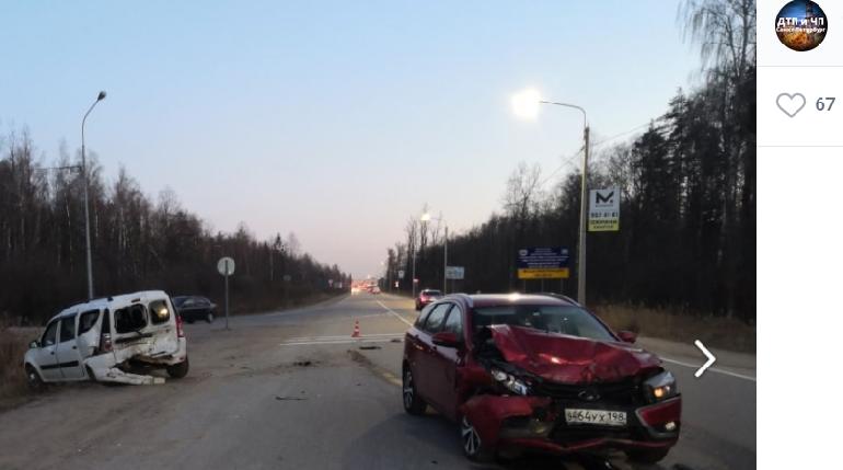 На Ленинградском шоссе в сторону Петербурга произошла авария