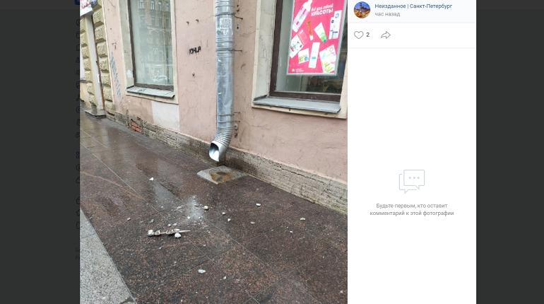 В Петербурге создали базу данных с обрушенными фасадами исторических зданий