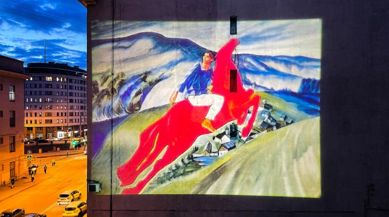 На Васильевском острове появилась световая копия картины Петрова-Водкина