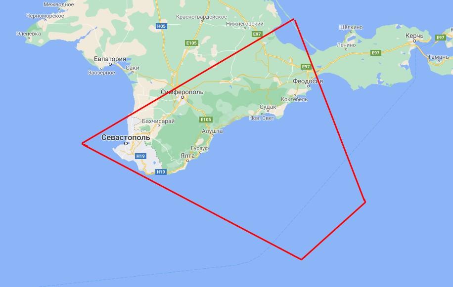 Россия на четыре дня запретила полеты над частью Крыма и Черного моря