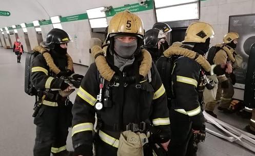 В петербургском метро тушили «пожар»