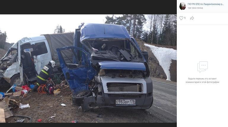 В аварии на трассе Петербург-Сортавала погибли трое человек