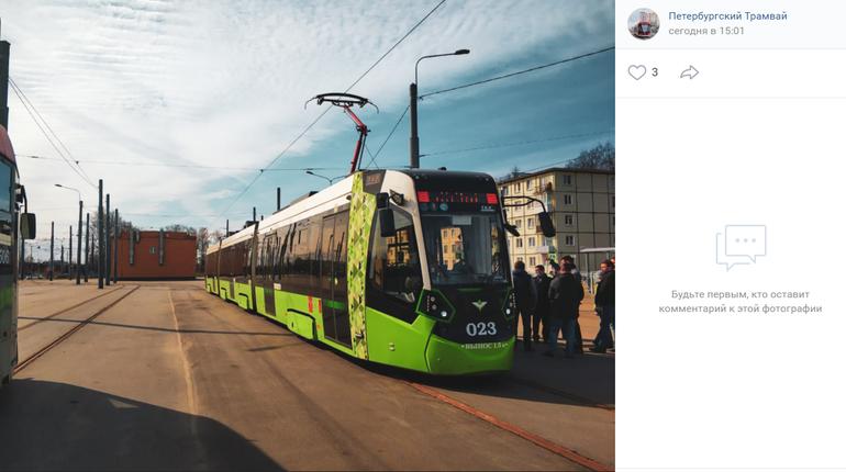 На Гранитной улице Петербурга обкатывают трамваи «Чижик»