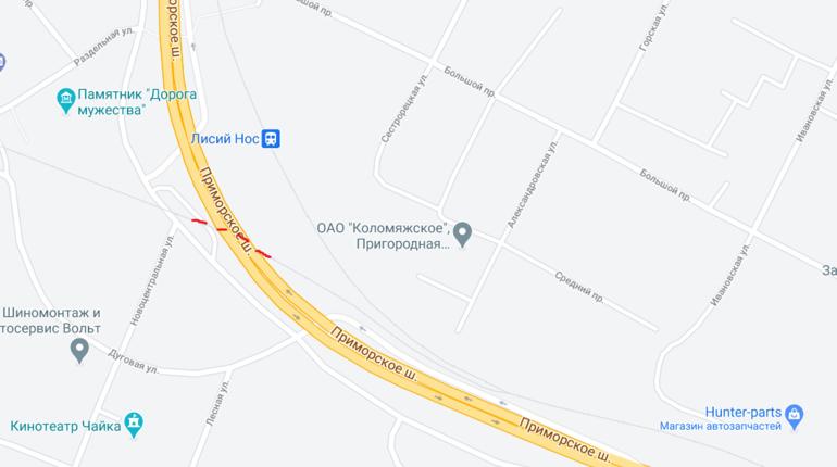 На Лисьеносовском путепроводе в Приморском районе ограничат движение до 1 июня