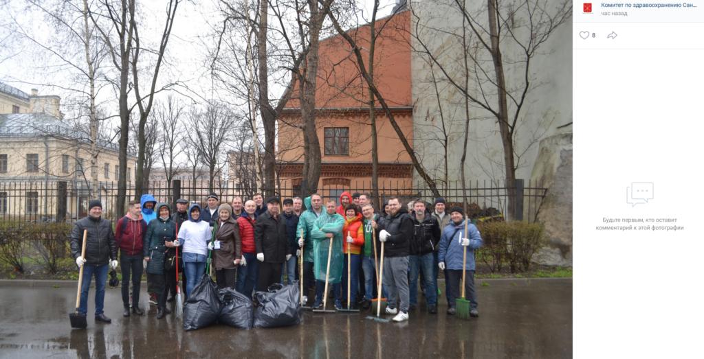 В рамках месячника по благоустройству за апрель в Петербурге провели работы на площади 300 млн кв. м.