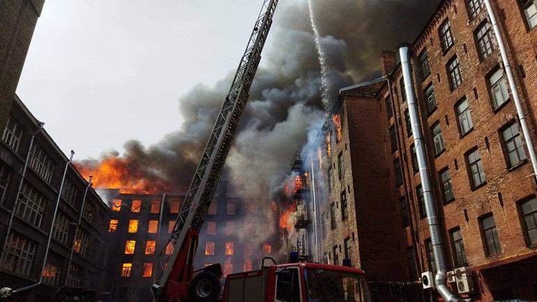 КГИОП рассказал о реставрации после пожара на «Невской мануфактуре»