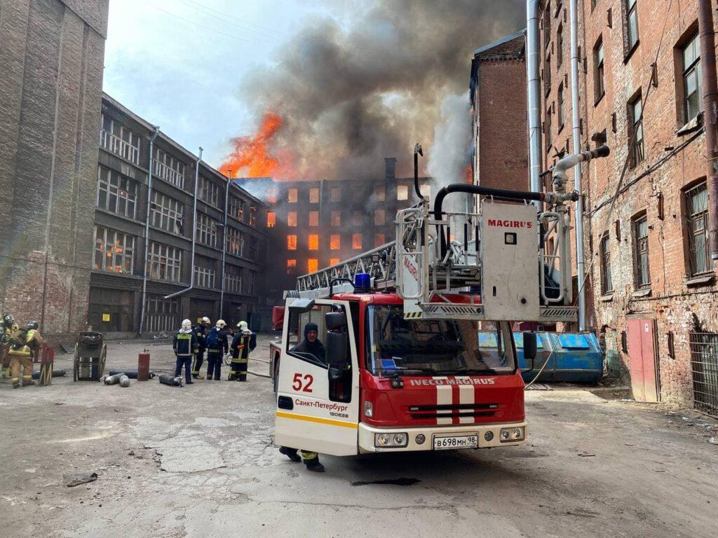 Бастрыкин поставил на контроль ход расследования пожара на «Невской мануфактуре»