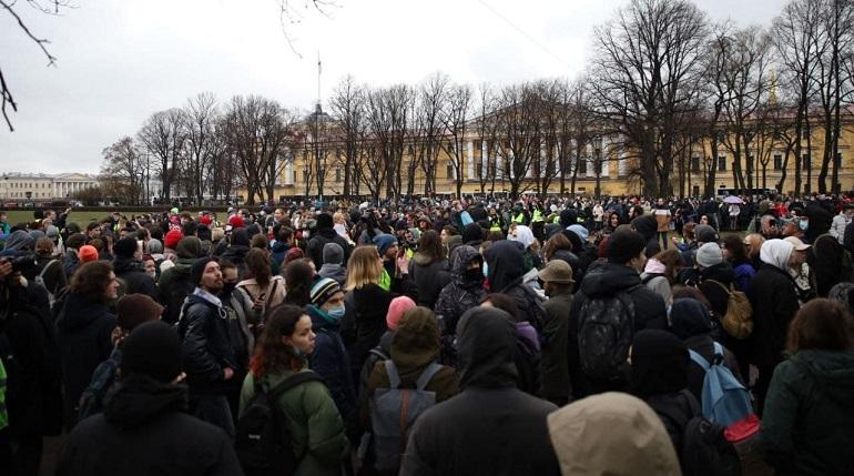 Несогласованная акция протеста в Петербурге: что известно на этот час