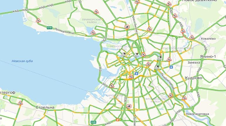 В среду в Петербурге ожидаются минимальные пробки
