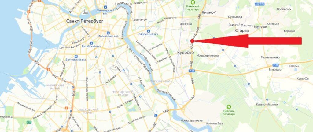 В мае на КАД между развязками с Мурманским и Колтушским шоссе перекроют движение
