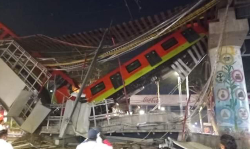 В Мексике погибли 20 человек при обрушении метромоста