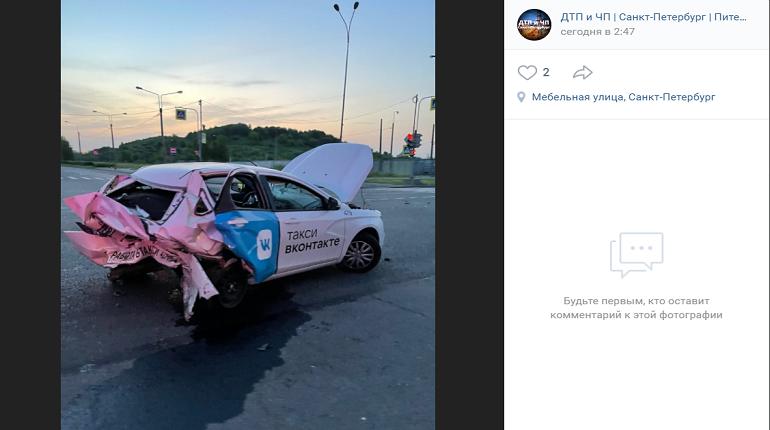Пьяный водитель на «Мерседесе» подбил такси