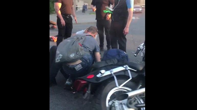В Кировском районе столкнулись два мотоциклиста