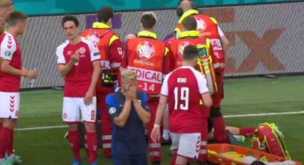 В Дании рассказали о самочувствии потерявшего сознание во время матча Евро-2020 игрока