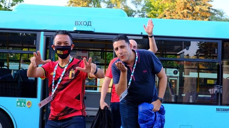 Автобусами-шаттлами воспользовались 8000 зрителей матча Россия-Бельгия