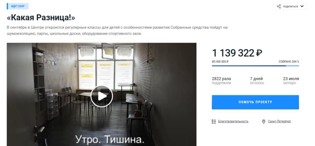 За сутки после скандала на детской площадке петербургский центр для детей-аутистов собрал почти миллион рублей