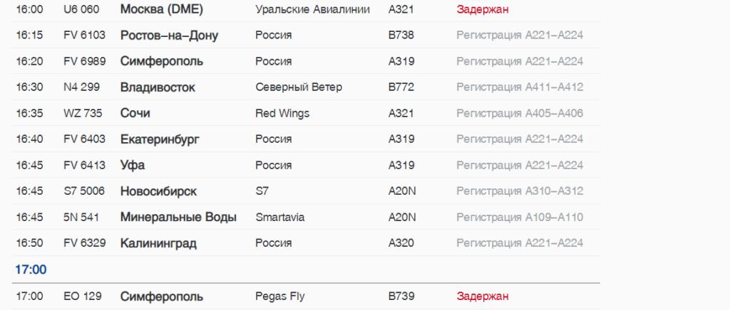 В субботу из аэропорта Пулково вылетят с задержкой семь рейсов, в том числе в Турцию, Молдавию и Узбекистан