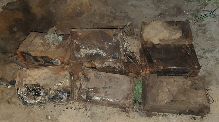 В Сосново нашли подозрительные предметы времен Великой Отечественной войны