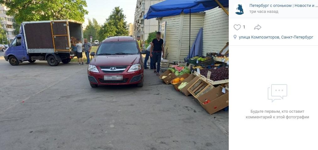 Очередной торговый павильон преградил дорогу жителям Выборгского района