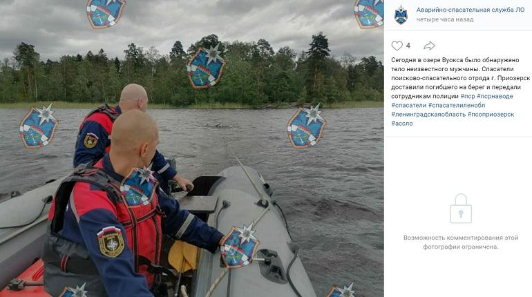 В Ленобласти из озера Вуокса вытащили тело мужчины