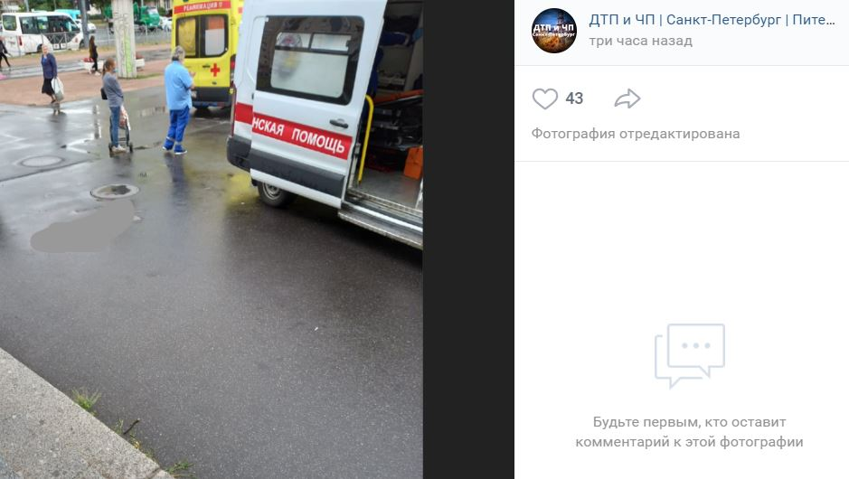 Водитель газели сбил пьяного пешехода в Красном селе и сбежал без машины