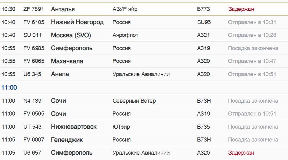 Из Пулково в среду с задержкой вылетят два рейса