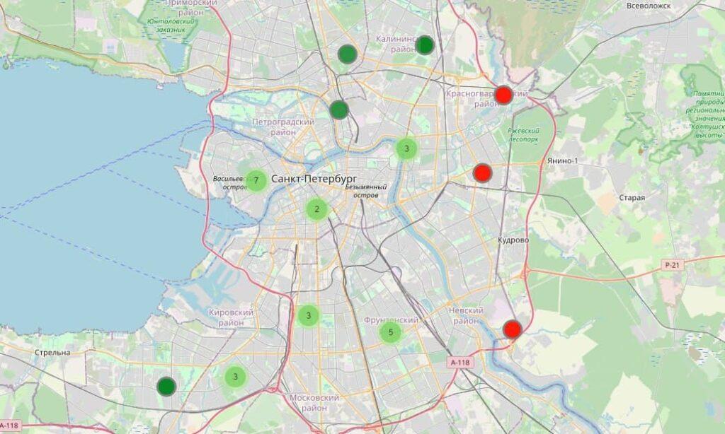 С интерактивной карты Комздрава Петербурга пропали пункты, где был дефицит вакцины