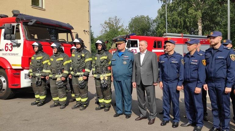 В Выборгском районе после реконструкции открылась пожарная часть