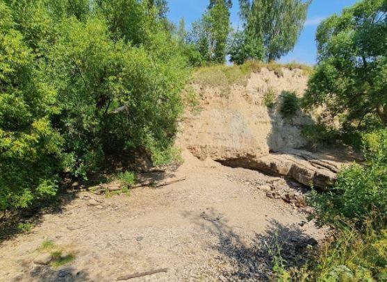 В Ленобласти из-за аномальной жары пересох водопад на реке Саблинка