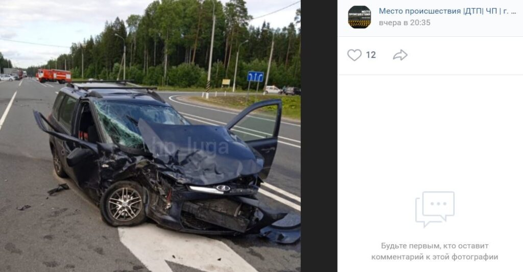 В ДТП на трассе Р-23 погиб пассажир «Лады», вылетев в окно после лобового столкновения