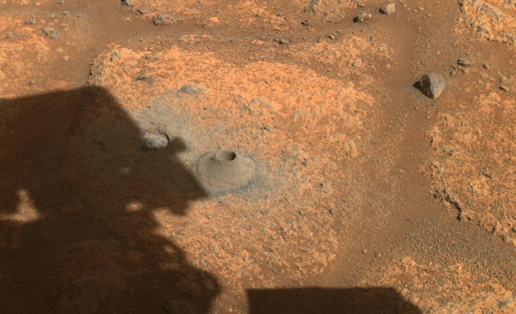 Марсоход Perseverance не смог собрать грунт на Марсе