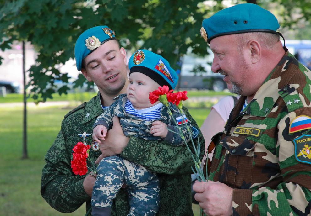В Петербурге прошел митинг ко Дню ВДВ