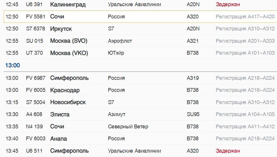 Во вторник из Пулково четыре рейса вылетят с задержкой: три из них — АК «Уральские авиалинии»
