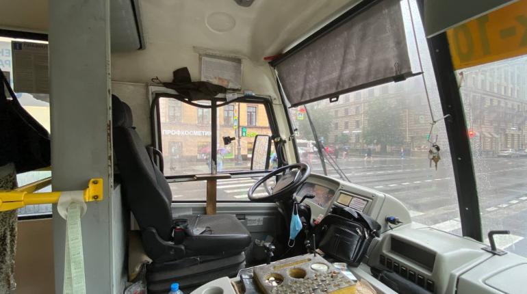 На Петроградке водитель маршрутки получил протокол за боковые шторы