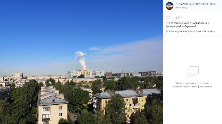 Над Петербургом заметили облако неизвестного происхождения