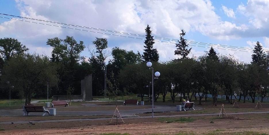 В деревне Малое Верево высадили яблони и благоустроили территорию