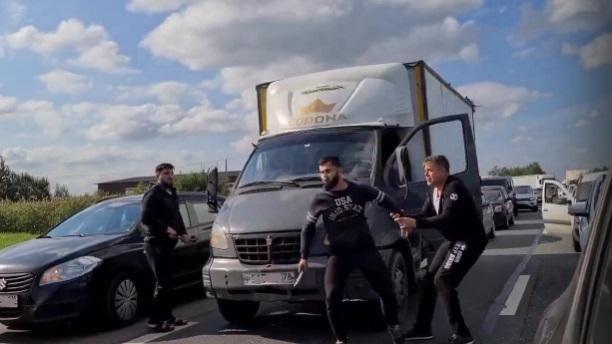 Иностранцы устроили драку на дороге в Ленобласти