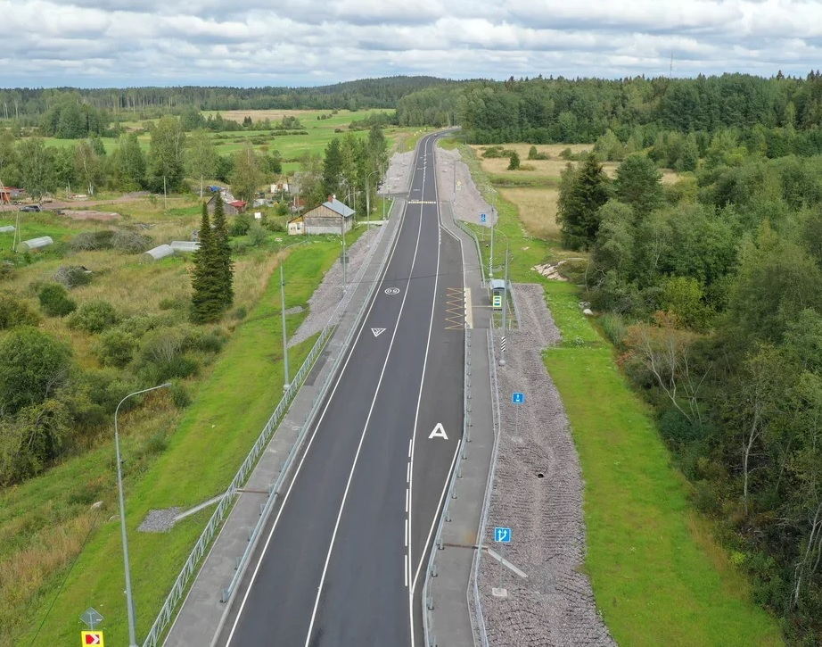 В Ленобласти капитально отремонтировали дорогу к Финляндии