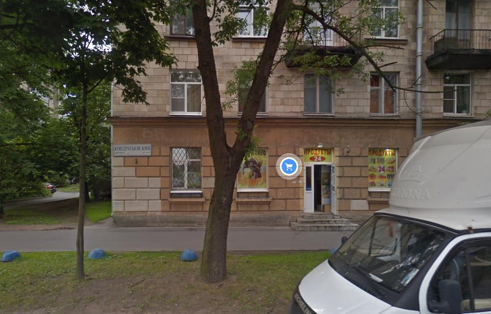 Ночью на Кондратьевском проспекте Петербурга горел продуктовый